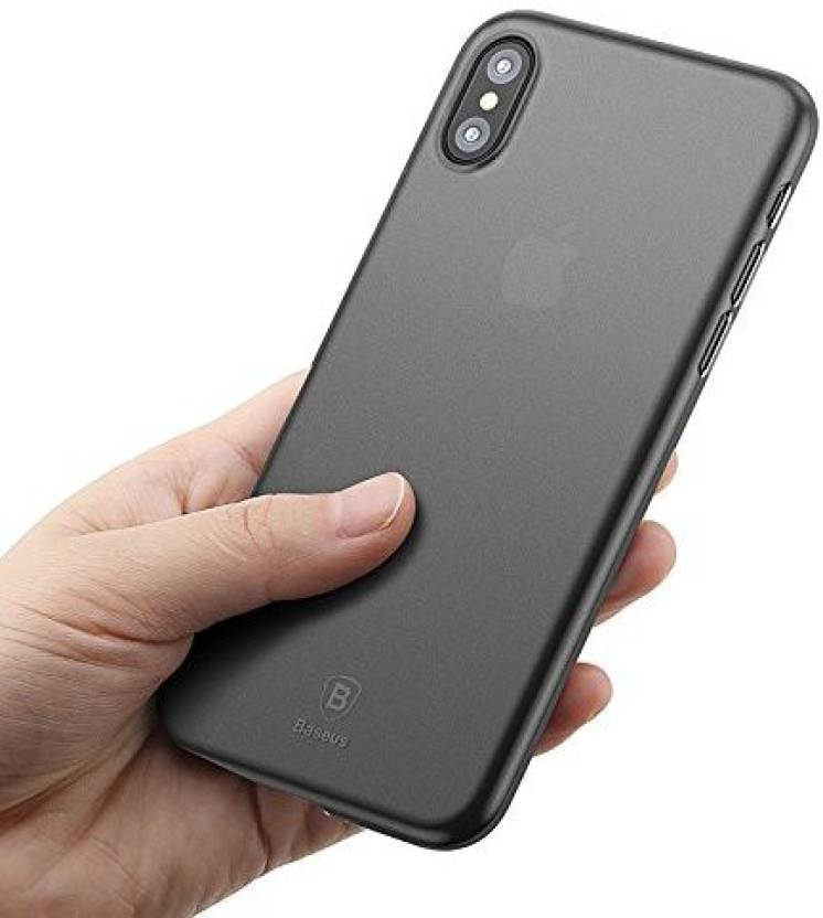 reputable site 94a46 ff5dd midkart Back Cover for Iphone X (TEN) Semi - Translucent Matte Black Paper  0.1 mm Ultra Thin All Side Protection & Camera Lens Protection