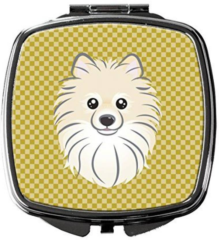 Caroline S Treasures Bb1135scm Tan Checkered Pomeranian Compact