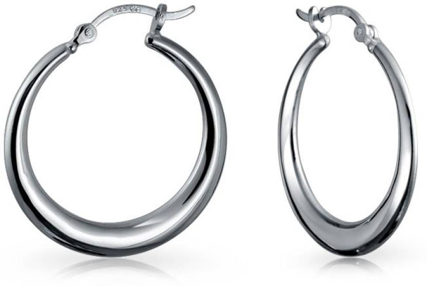 e3b85c6b8caa1 Flipkart.com - Buy Bling Jewelry Small Round Circle .925 Silver Hoop ...