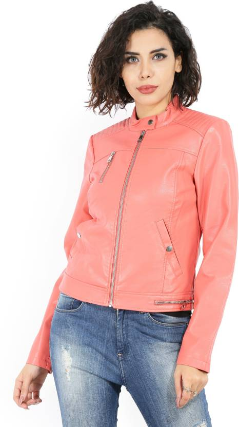 4f95f3fff Vero Moda Full Sleeve Solid Women's Jacket - Buy Pink Vero Moda Full Sleeve  Solid Women's Jacket Online at Best Prices in India | Flipkart.com