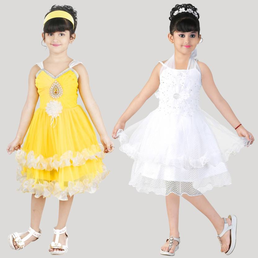 f708e4959aa FTC FASHIONS Girls Midi/Knee Length Party Dress Price in India - Buy ...