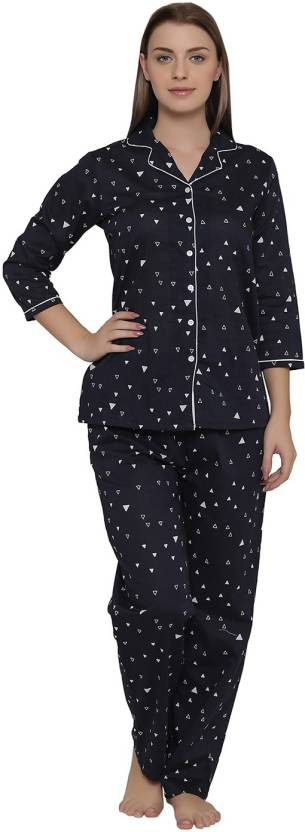 a0aafae987f Clovia Women s Printed Blue Top   Pyjama Set Price in India - Buy ...