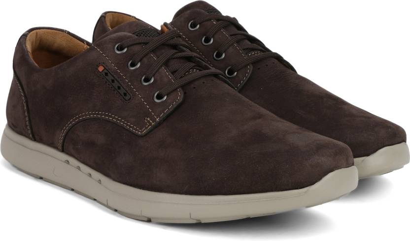 fac84f5a628 Clarks UnLomac Edge Brown Nubuck Casual Shoes For Men - Buy Brown ...