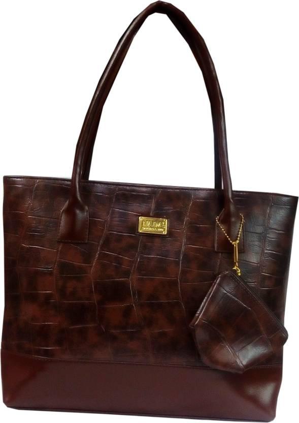 Nada s Designer Brand New Party Wear Brown Handbag Waterproof Shoulder Bag  (Brown e2a2adc158d76