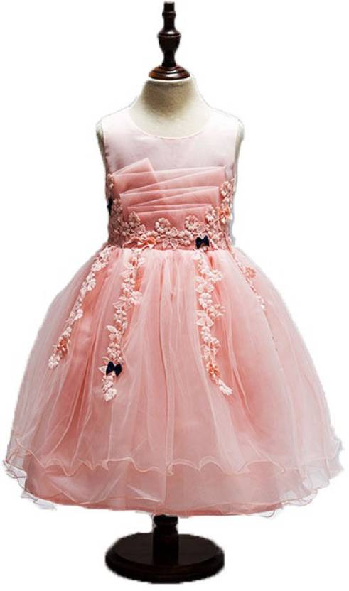 a43ec7ffb96e frocks Girls Midi Knee Length Party Dress Price in India - Buy ...