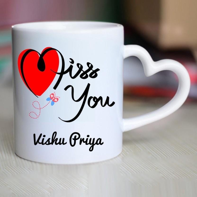 chanakya i miss you vishu priya heart handle mug ceramic mug price