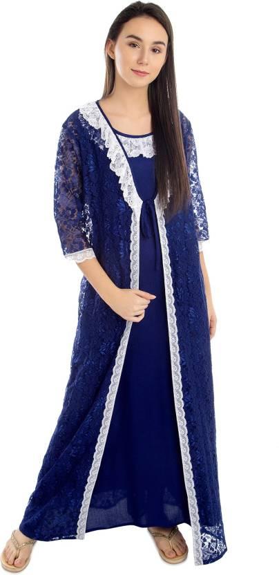 Patrorna Women Nighty with Robe - Buy Patrorna Women Nighty with ... d1b46da3b