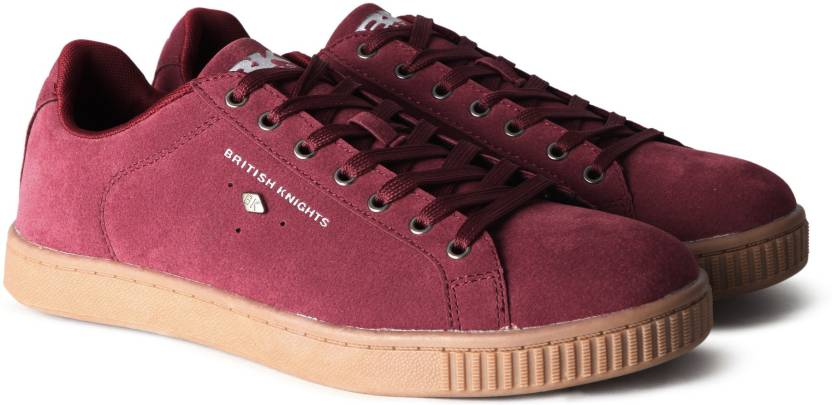 11814daf195 British Knights DUKE Sneakers For Men - Buy BURGUNDY CREPE Color ...