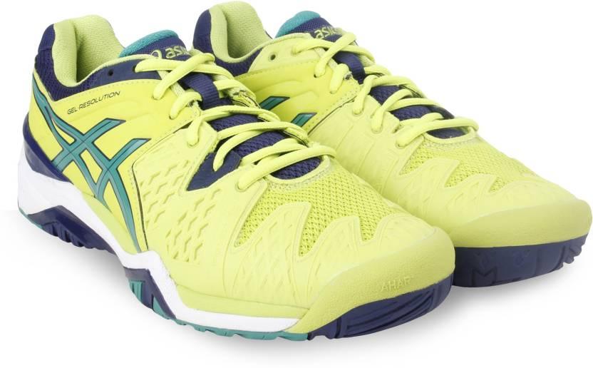 30e653019e Asics GEL-RESOLUTION 6 Tennis Shoes For Men - Buy IME/PINE/IND BLU ...