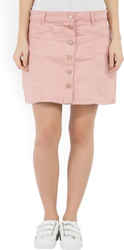 40ff60761e66 Forever 21 Solid Women A-line Pink Skirt - Buy PINK Forever 21 Solid Women  A-line Pink Skirt Online at Best Prices in India | Flipkart.com