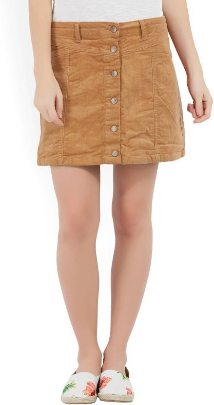 f819940a814f Forever 21 Solid Women A-line Brown Skirt - Buy RUST Forever 21 Solid Women  A-line Brown Skirt Online at Best Prices in India | Flipkart.com