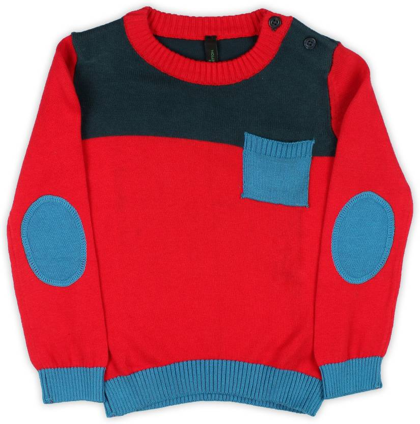 9df0fd5d4 ... Casual Boys Red, Blue Sweater - Buy Red/Multicolored United Colors of  Benetton. Solid Round Neck Casual Boys Red, Blue Sweater Online at Best  Prices in ...