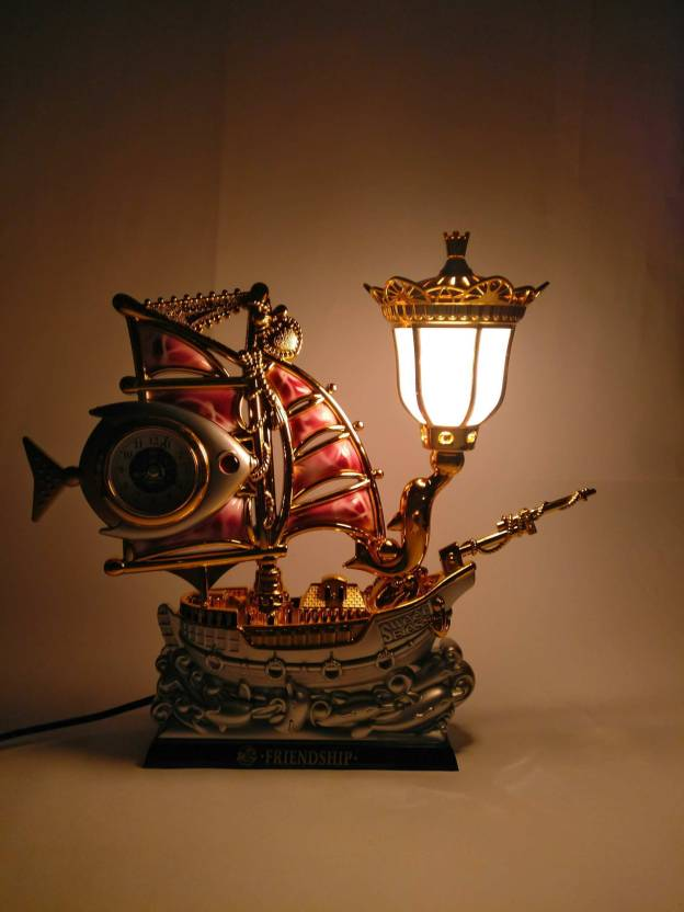 Enjoyable Funkytradition Pink Golden Fish Vintage Pirates Ship Table Interior Design Ideas Clesiryabchikinfo