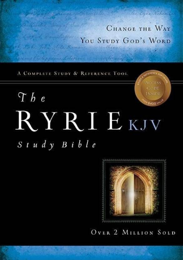 The Ryrie KJV Study Bible Hardcover- Red Letter Indexed - Buy The