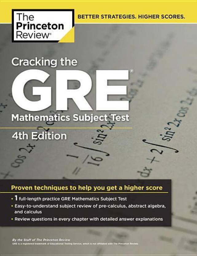 Cracking The GRE Mathematics Subject Test 4th Edition Buy