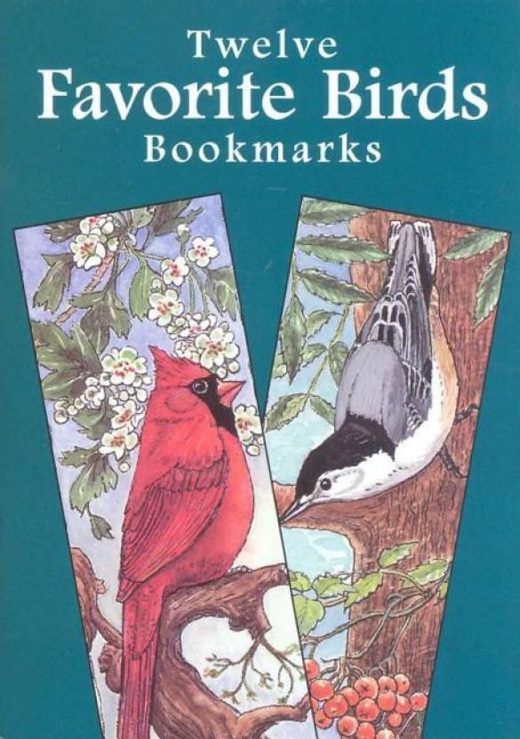 twelve favorite birds bookmarks dover bookmarks