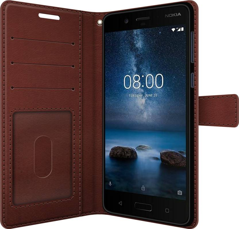 release date 711a1 4b78f FOSO Wallet Case Cover for Nokia 8