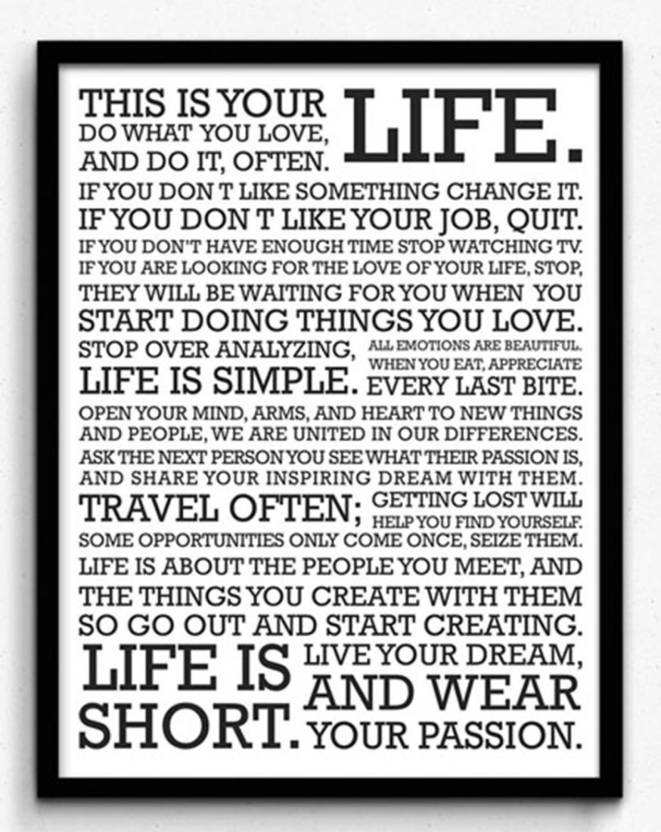 PL Wall Poster Thisisyourlifeuzzgfjzmdhf Paper Print Quotes Delectable This Is Your Life Quote Poster
