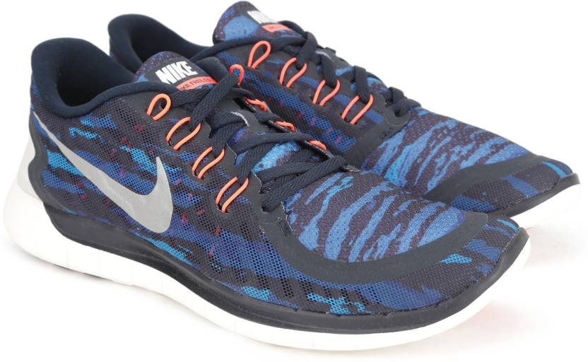 new styles 95837 6b754 Nike FREE 5.0 PRINT Running Shoes For Men (Black, Blue)