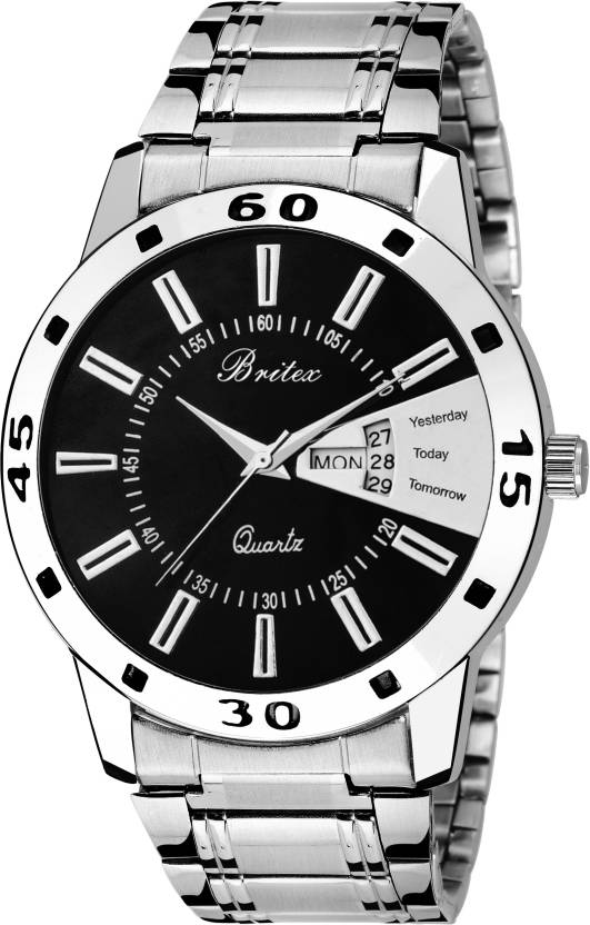 Britex BT6046 Bel Homme~ Day and Date Watch - For Men
