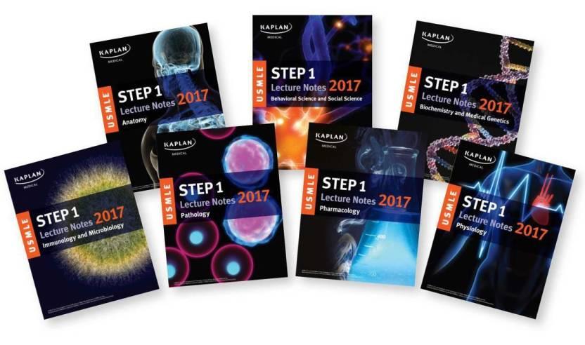 USMLE Step 1 Lecture Notes 2017 7 Book Set Kaplan Test Prep
