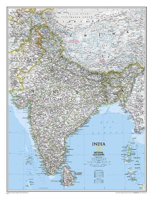 India Wall Map Laminated Buy India Wall Map Laminated Online - Where can i buy a wall map