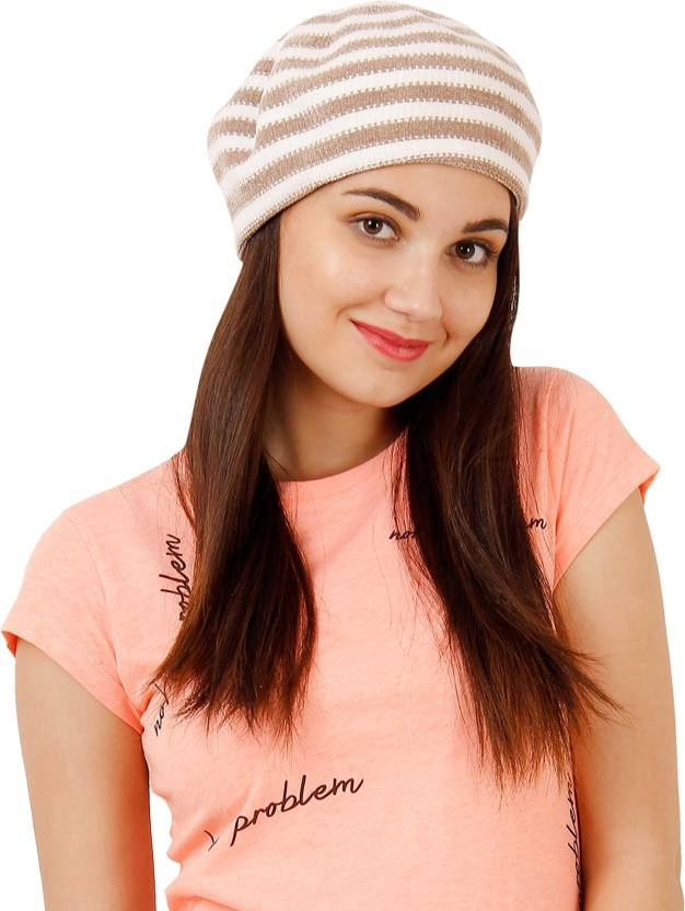 de15bfa4f7b FabSeasons Knitted Fancy Beret Caps   Hat for Girls   Women Cap - Buy  FabSeasons Knitted Fancy Beret Caps   Hat for Girls   Women Cap Online at  Best Prices ...