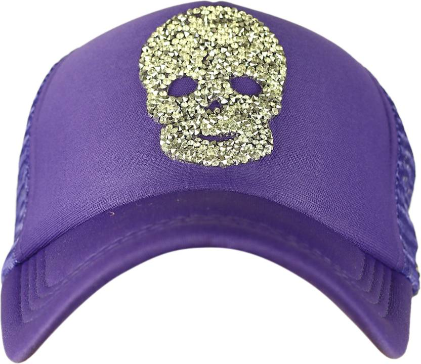 8abe7abf746 Spike Me SILVER SKULL Half Mesh Trucker Cap with Adjustable Snap Cap ...