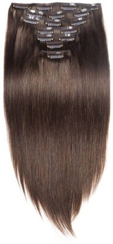 Confidence Clip On Real Human Extensions 7 Pcs Instant Volume And