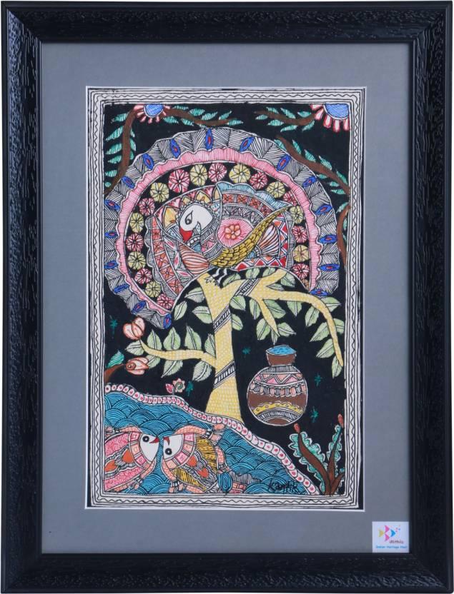 iMITHILA Madhubani Mithila Painting of Evolution of Life