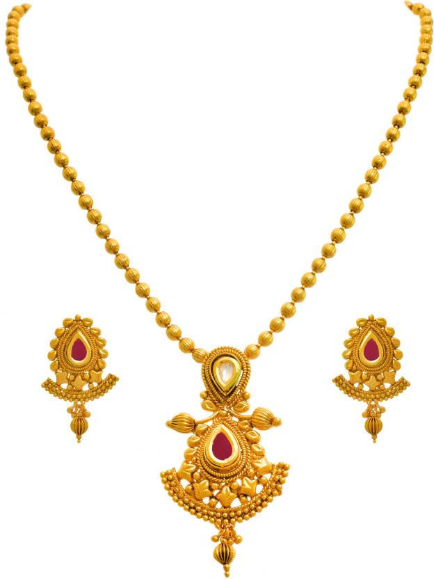 Jewelry & Watches Ethnic Indian Traditional Gold Tone Kundan Pendent Necklace Set Women Jewellery Reasonable Price