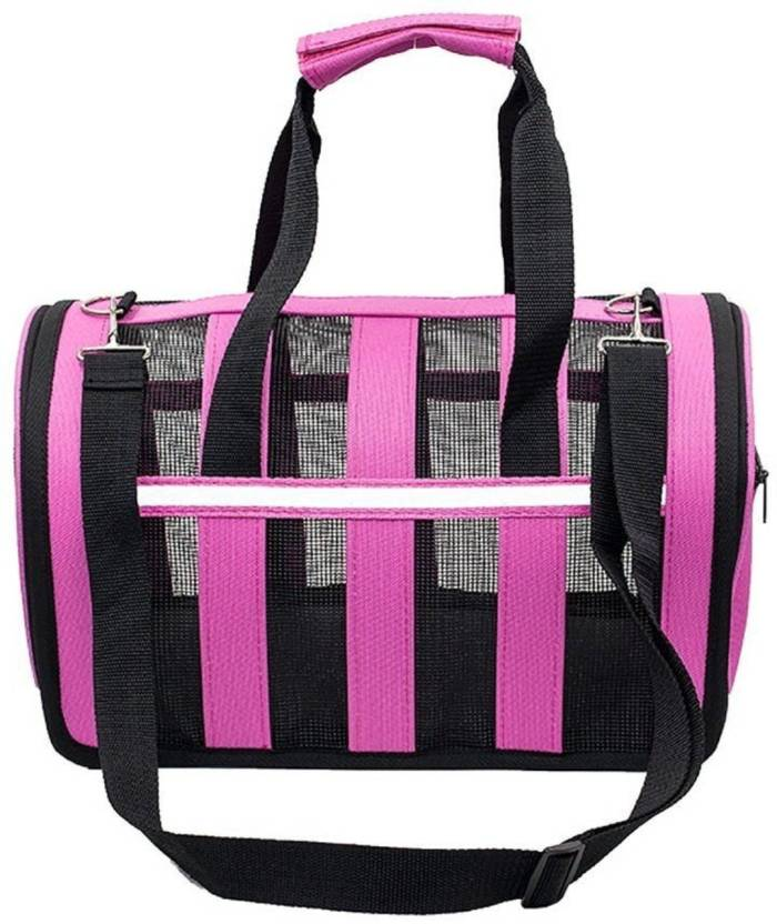 SRI High Quality Adjustable Detachable Shoulder Strap Pet Travel Portable  Bag Foldable Travel Dog Crate Soft f1d21367e5