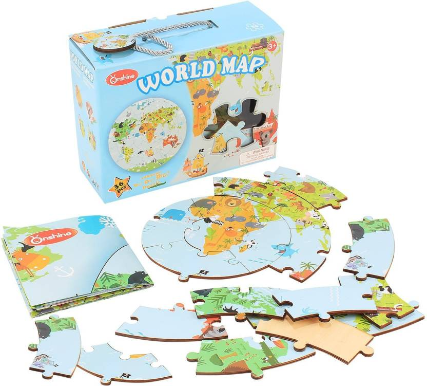 Onshine wooden world map jigsaw play puzzle for ages 3 wooden onshine wooden world map jigsaw play puzzle for ages 3 gumiabroncs Choice Image