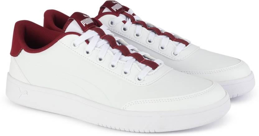 66ac69d5cd42 Puma Court Breaker L Sneakers For Men - Buy White-Tibetan Red Color ...