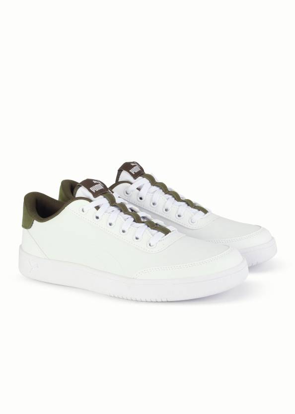 baf8ab7a939f2f Puma Court Breaker L Sneakers For Men - Buy White-Olive Night Color ...