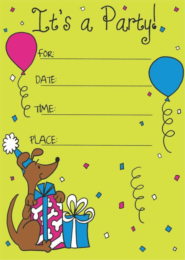 Power Plus Birthday Metallic Card Invitations With Envelopes