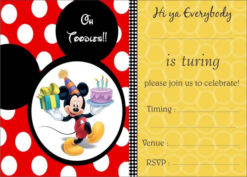 power plus birthday metallic card invitations with envelopes kids