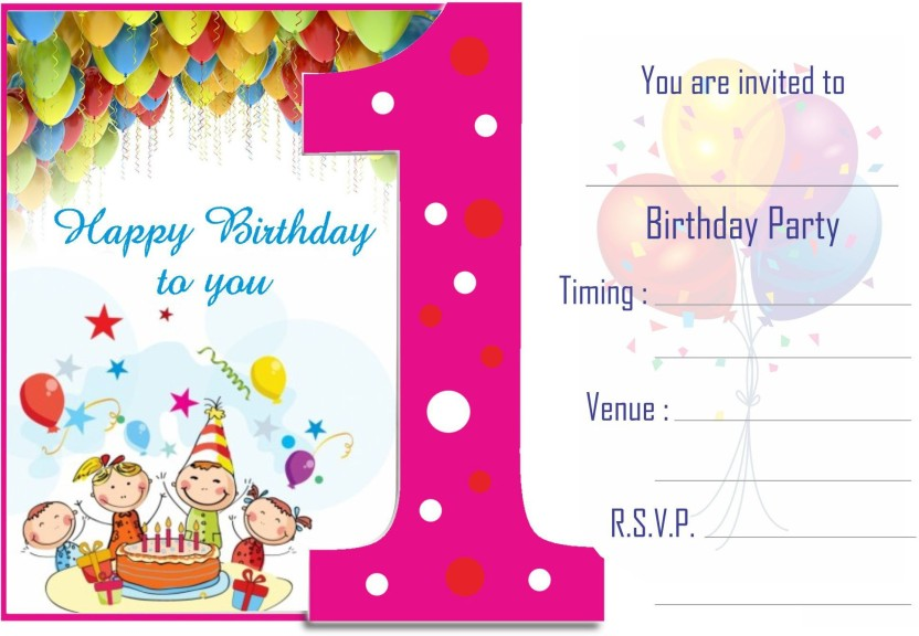 Power Plus Birthday Metallic Card Invitations With Envelopes Kids