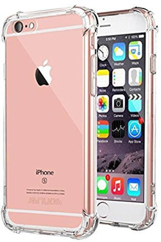 sale retailer 4c4a9 1a018 Premsons Back Cover for iPhone 6 Protective Soft Silicone Shockproof Hybrid  Protection Case Cover - Transparent