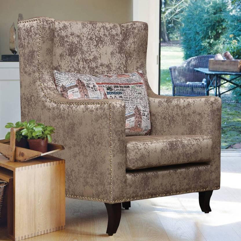 Peachtree Crystal High Back Chair Fabric Living Room