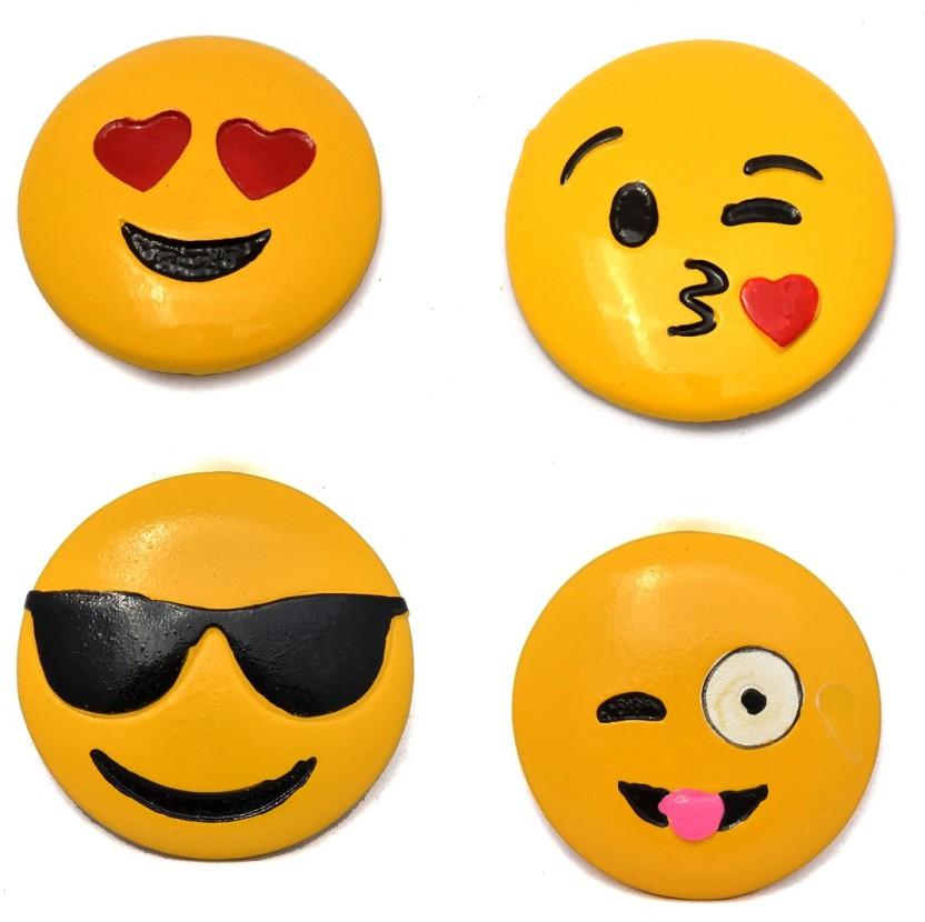 499 Yellow Emoji Smiley Face Hair Clip