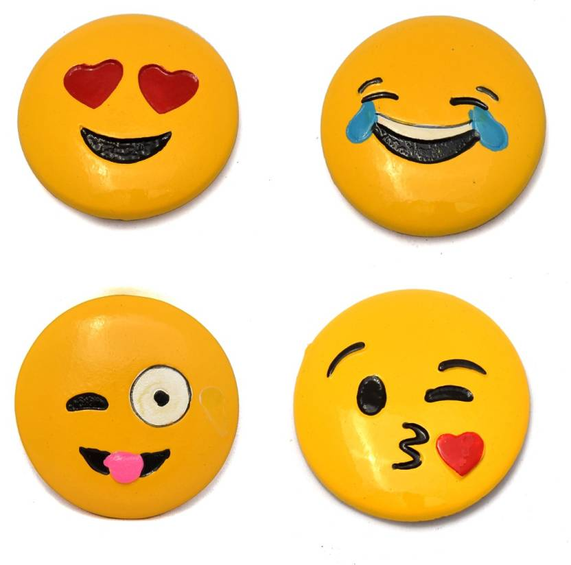 Cortina Round Cartoon Emoji Smile Smiley Face Fridge Magnets