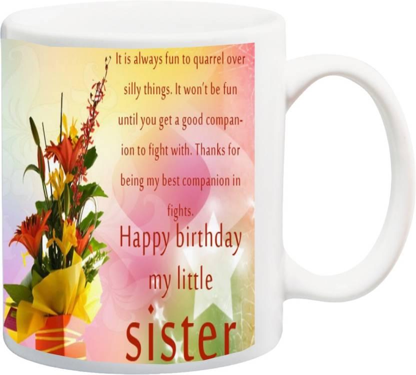 Super Meyou Gift For Sister On Birthday Happybirthday My Little Sister Funny Birthday Cards Online Elaedamsfinfo
