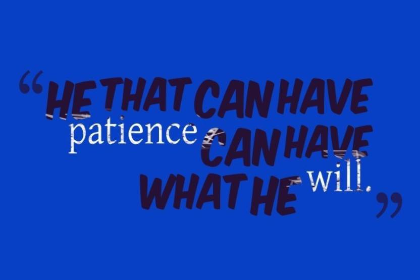 Ashd Wall Poster Patience Tgftgj Paper Print Quotes Motivation