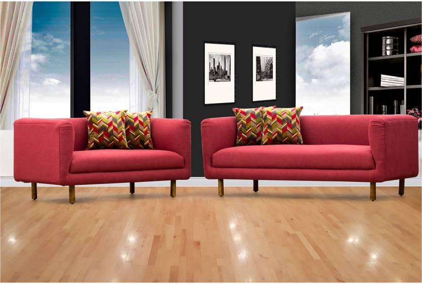 Stupendous Peachtree Napier Sofa 3 2 Seater Maroon Fabric 3 2 Maroon Machost Co Dining Chair Design Ideas Machostcouk