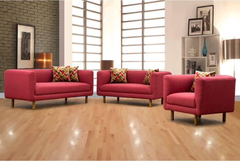 Awesome Peachtree Napier Sofa 3 2 1 Seater Maroon Fabric 3 2 1 Machost Co Dining Chair Design Ideas Machostcouk