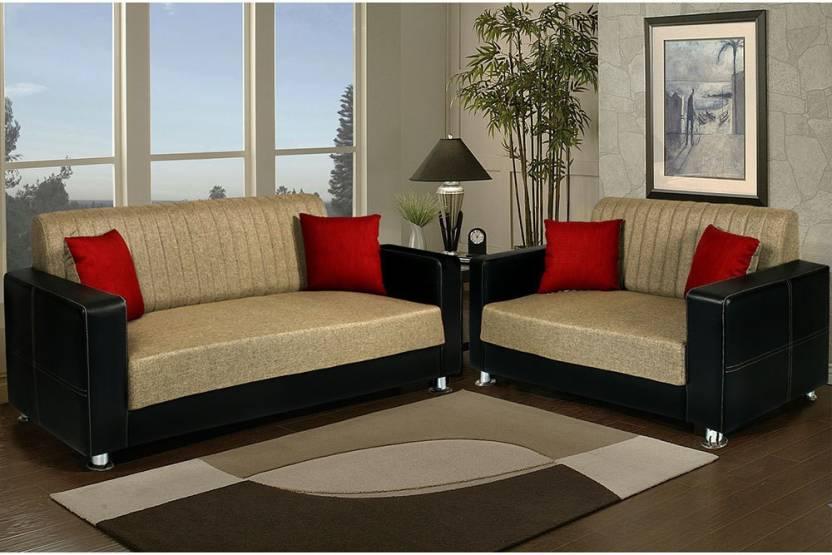 Peachtree Fabric 3 2 Beige Sofa Set