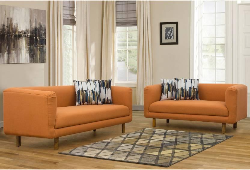 Stupendous Peachtree Napier Sofa 3 2 Seater Orange Fabric 3 2 Orange Machost Co Dining Chair Design Ideas Machostcouk