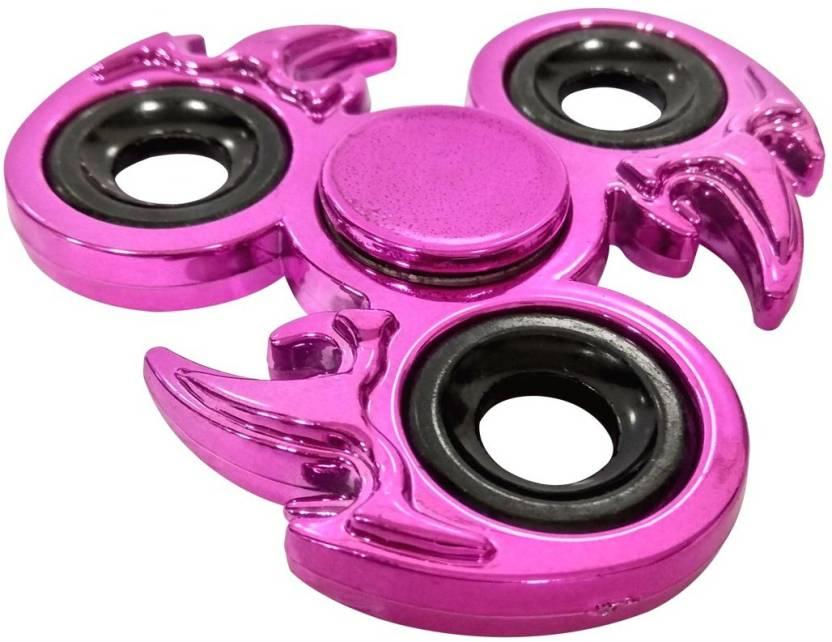 Surety For Safety Metallic Unique Design Fidget Spinner Pink Color
