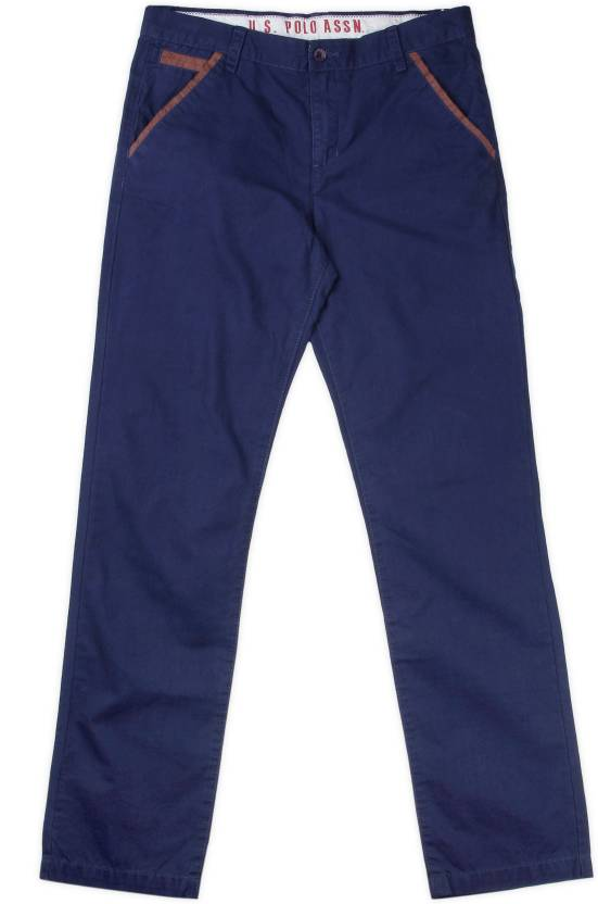 2e42917776 US Polo Kids Slim Fit Boys Blue Trousers - Buy NAVY US Polo Kids Slim Fit  Boys Blue Trousers Online at Best Prices in India | Flipkart.com